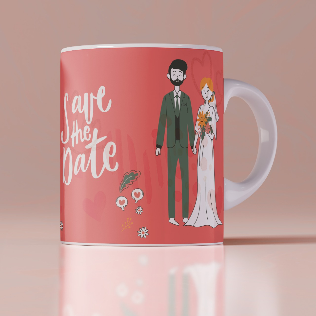 Save The Date personlized mug