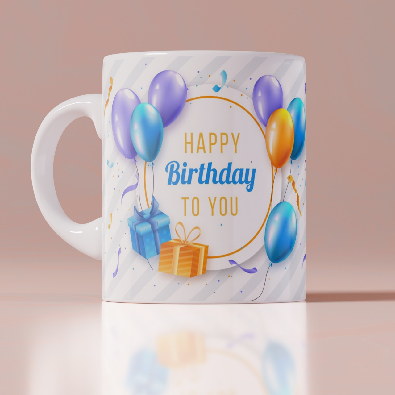 Happy Birthday Personalizd  White Mug