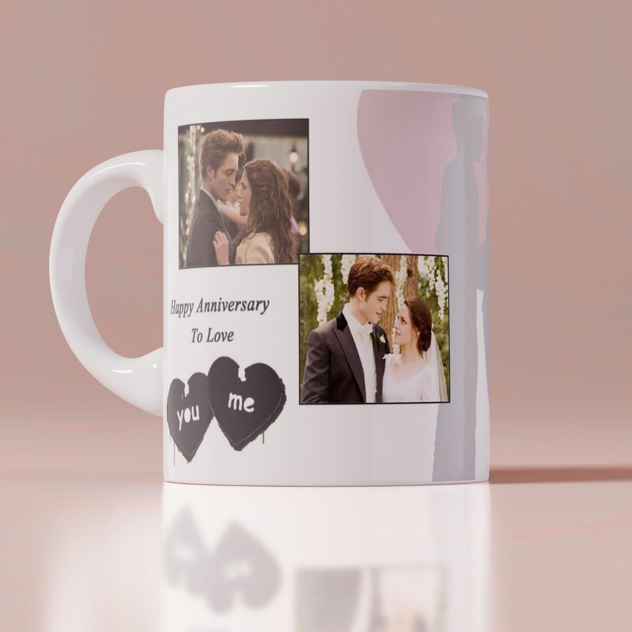 Anniversary Personalizd White Mug