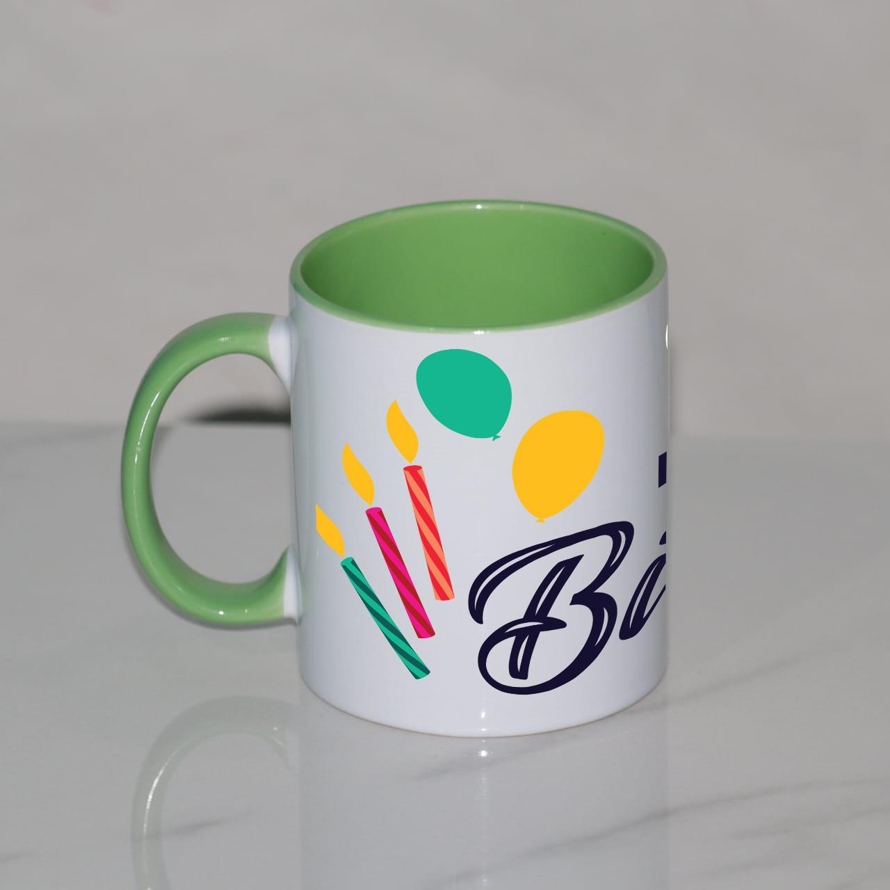 Personalized Birthday Green Mug