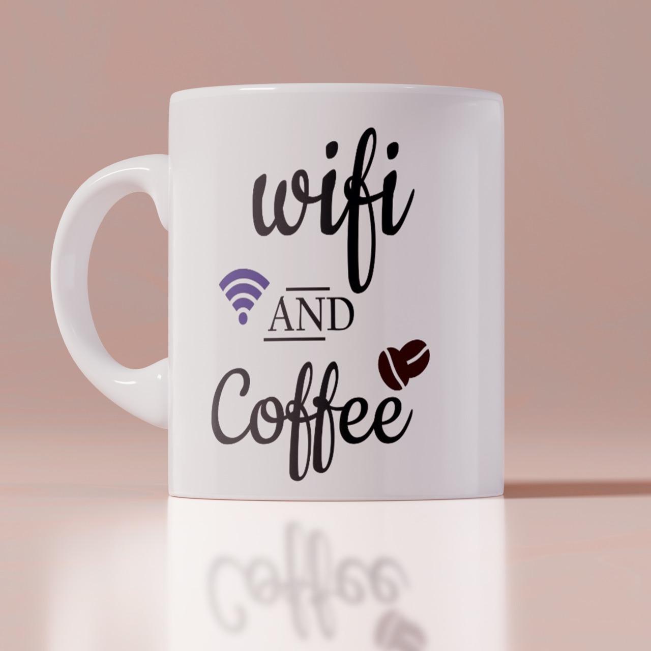 Wife And Coffe Customize White Mug