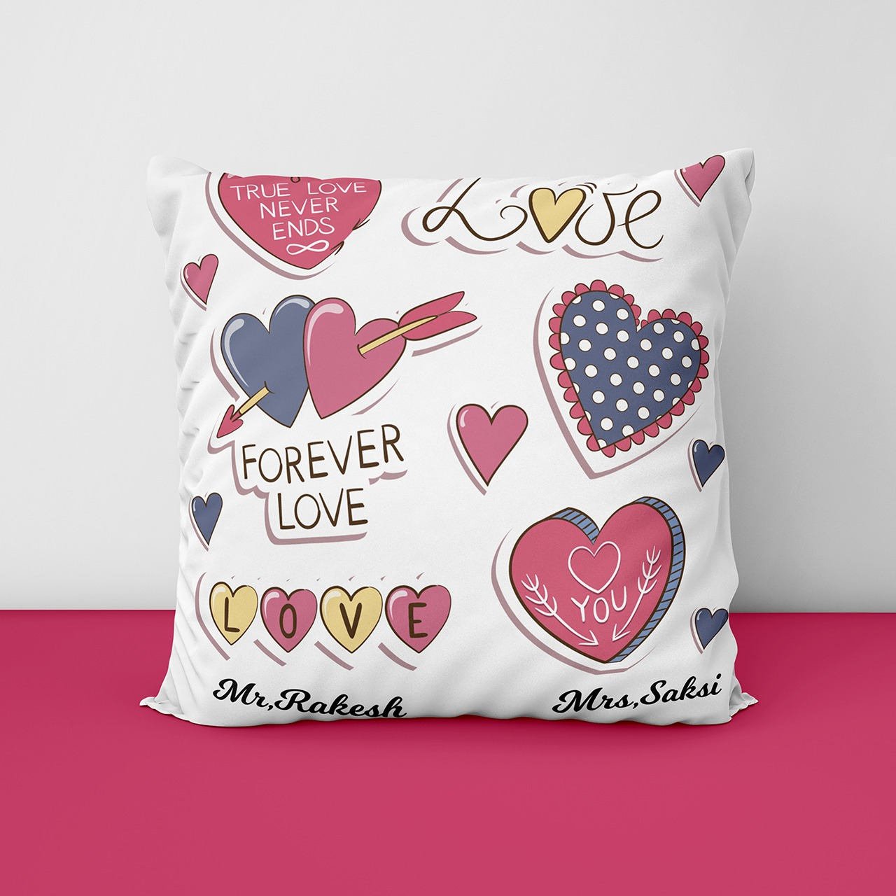 Love Forever Personalized Cushion