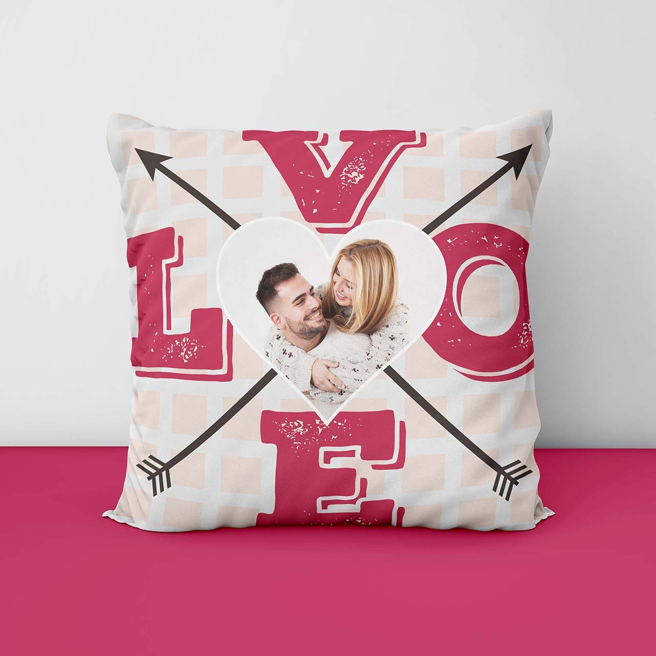 Love Personalized Printed Cushion
