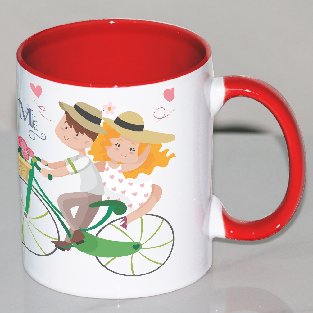 Couple Customized Red Mug
