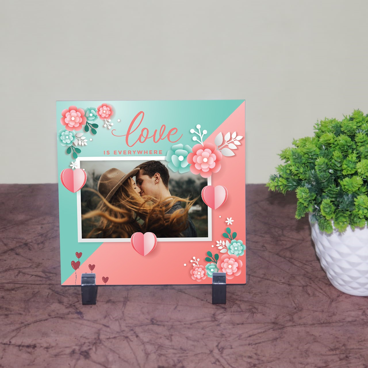 Love is Everywhere Personalized Tile