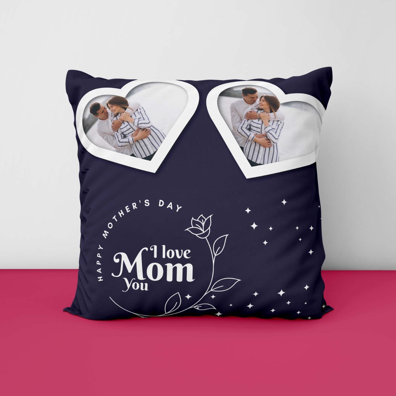 I Love Mom Personalized Cushion