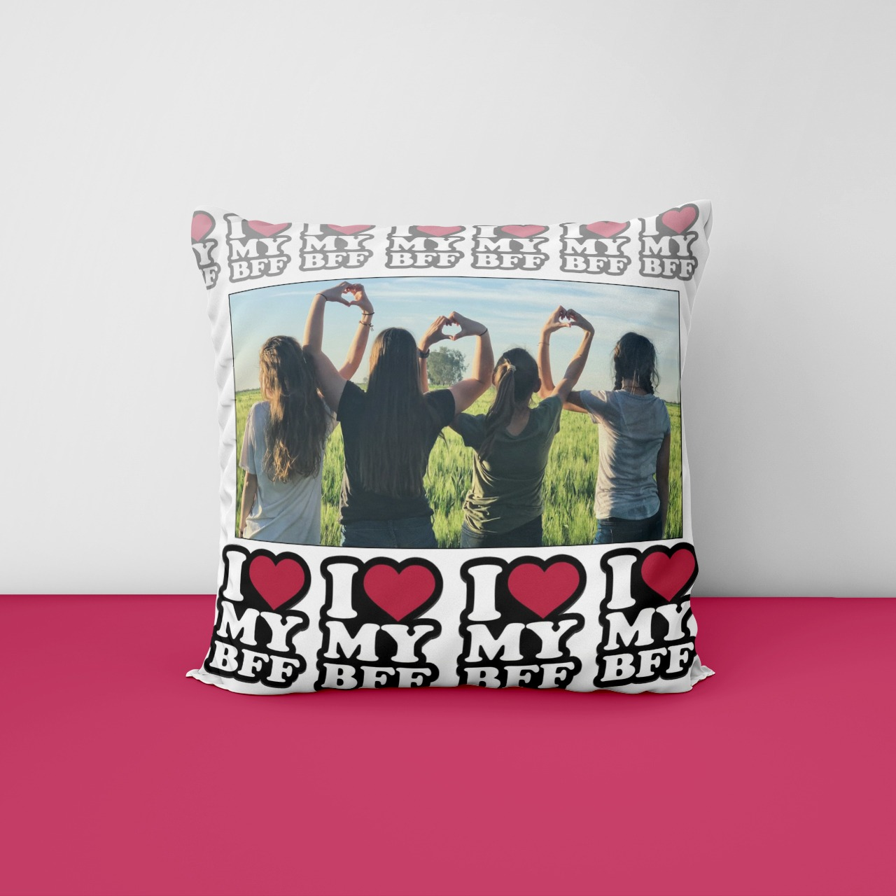 I My Bff Personalized Cushion