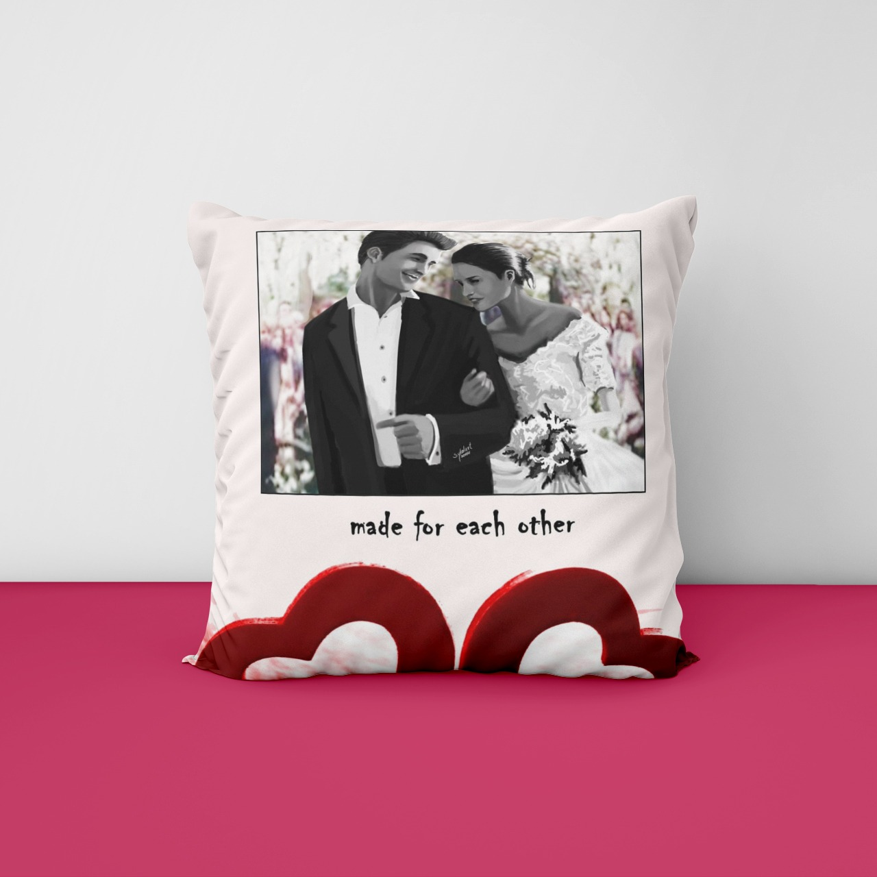 Made for each other Cushion
