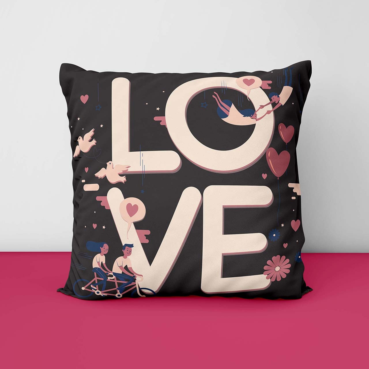 Love Printed Customize Cushion