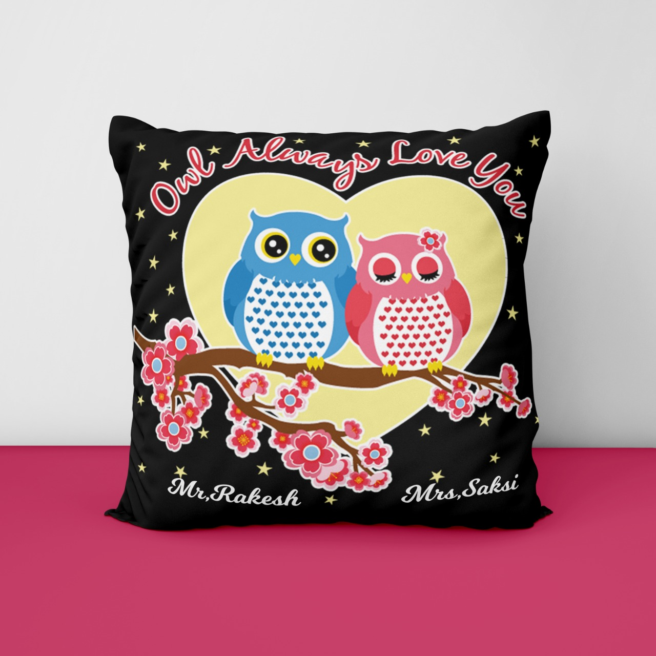 Always Love You Personalized Cushion