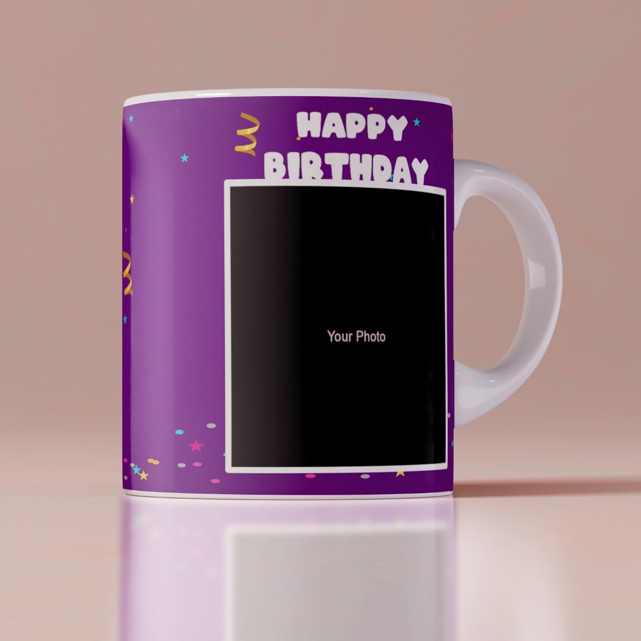 Birthday Personalizd White Mug