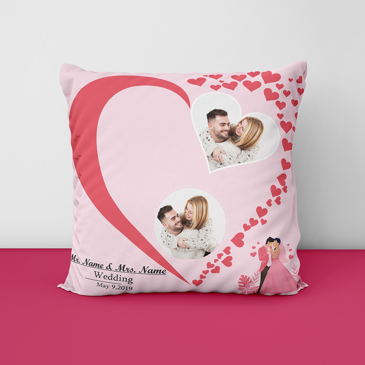 Anniversary Personalized Cushion