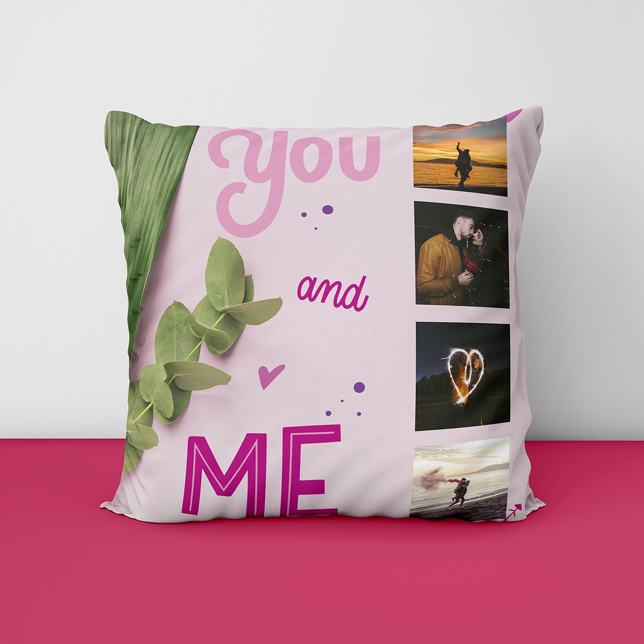 You And Me Personalized Cushion