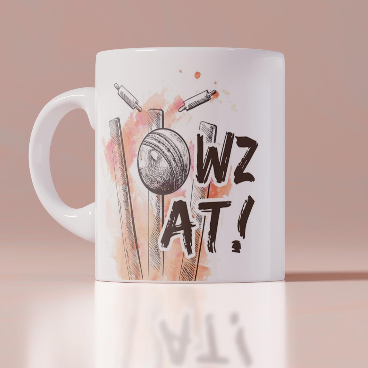 Cricket Lover Wz At Customized Mug