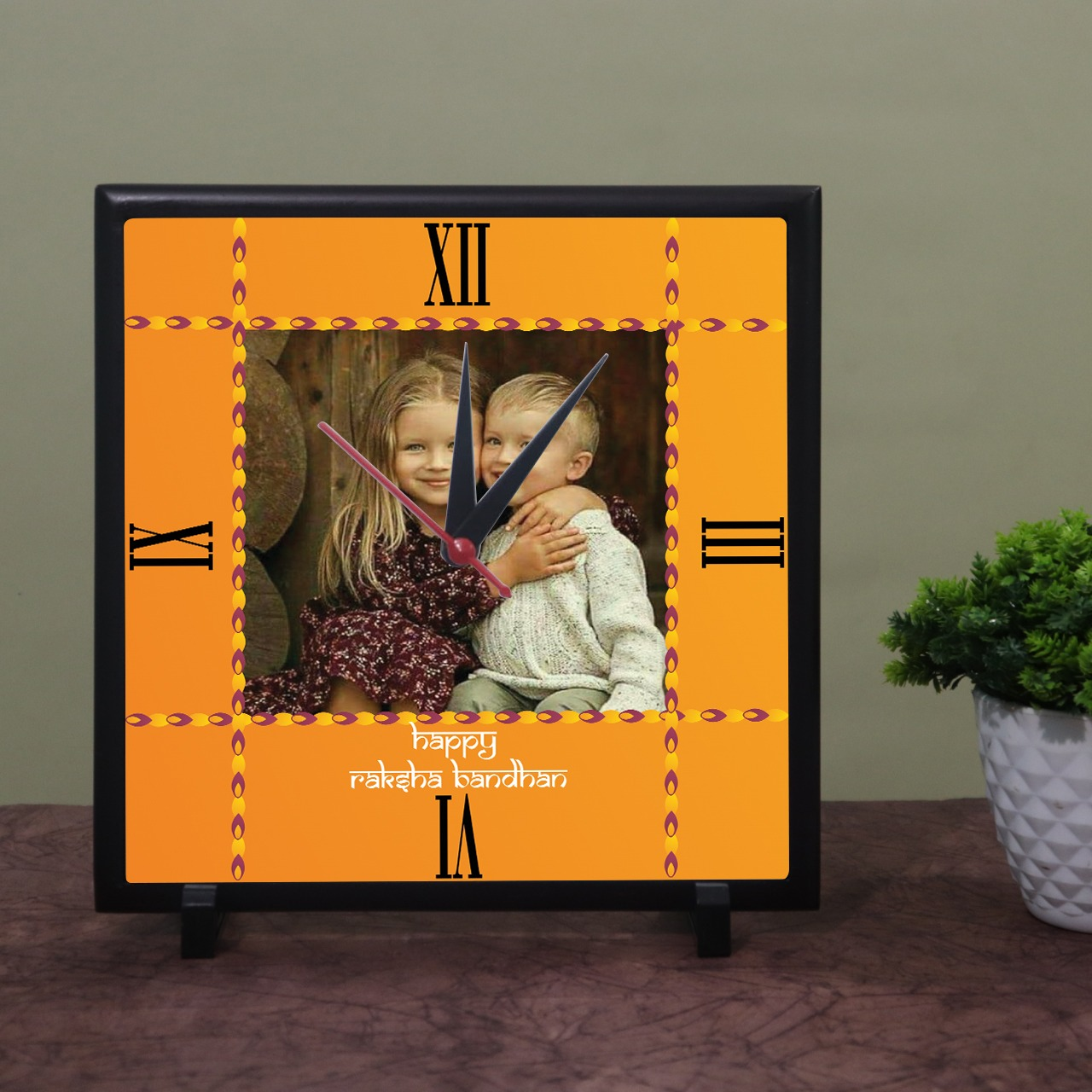 Rakhi Personalized Photo Wall Clock