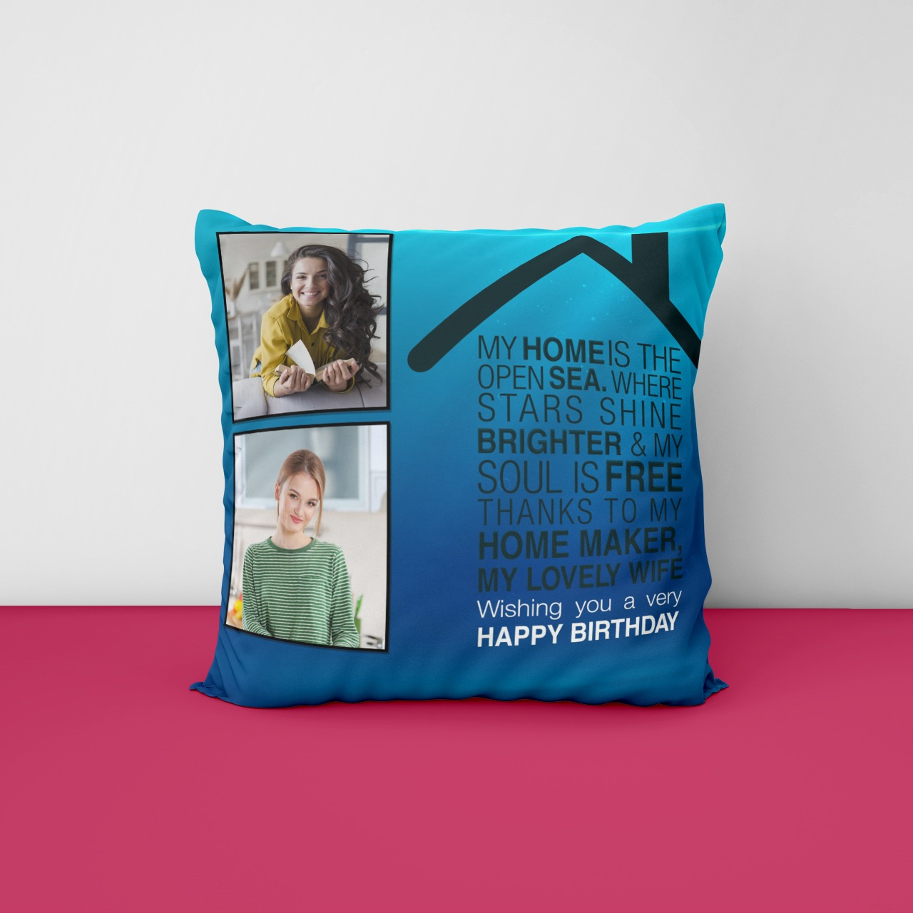 Wishing you Very Happy Birthday Personilzed Cushion