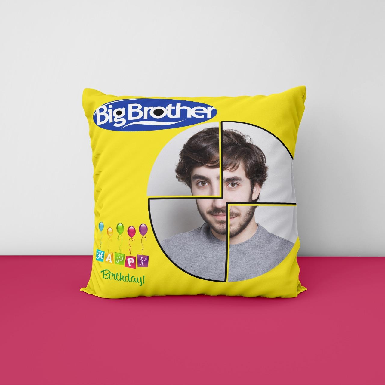 Big Brother Birthday Personalized Cushion