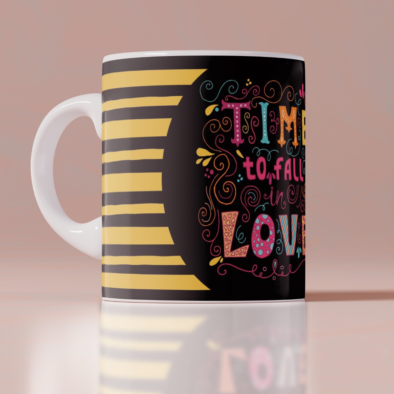 Time To Fall Customize Mug