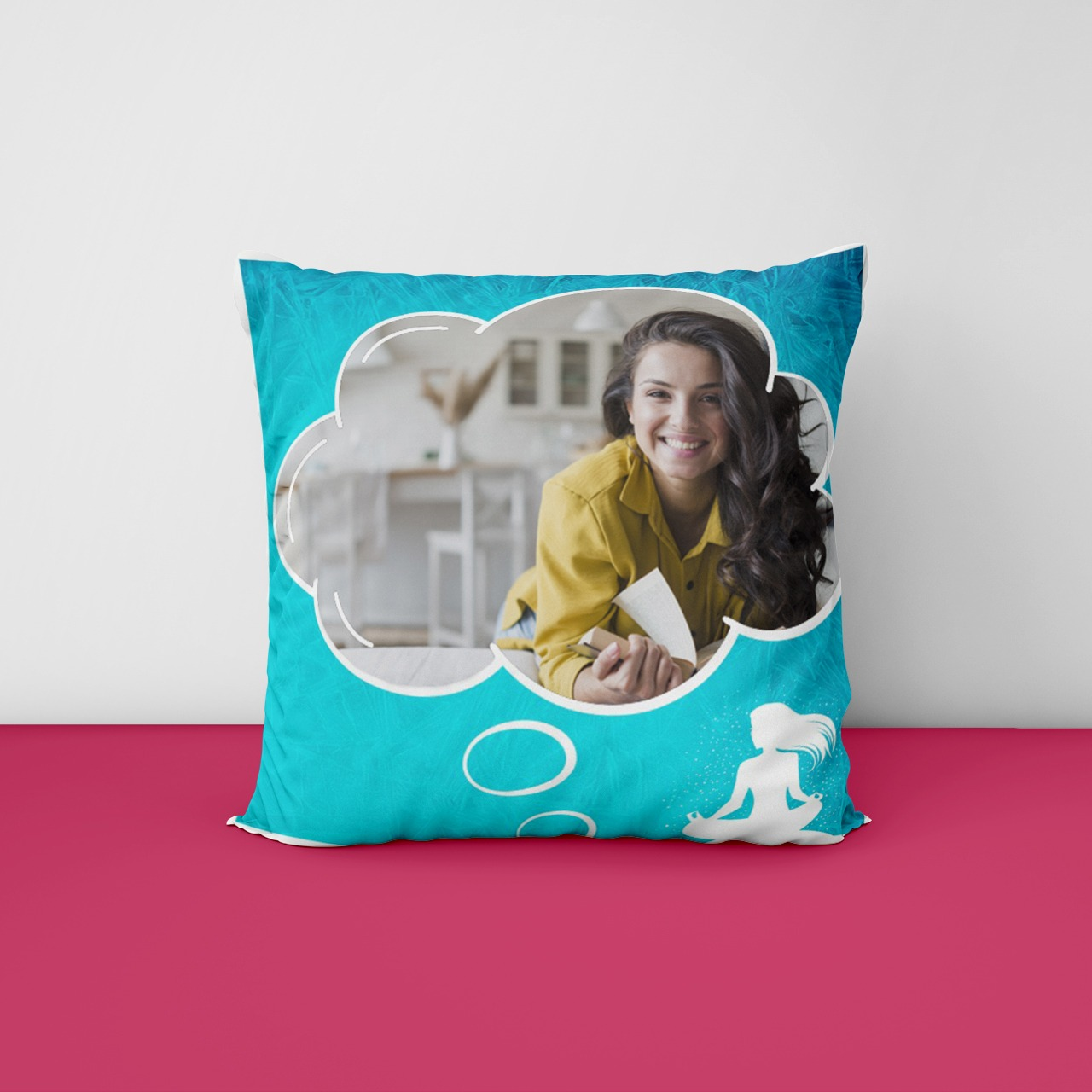 Yoga Partner Pesonalized Photo Cushion