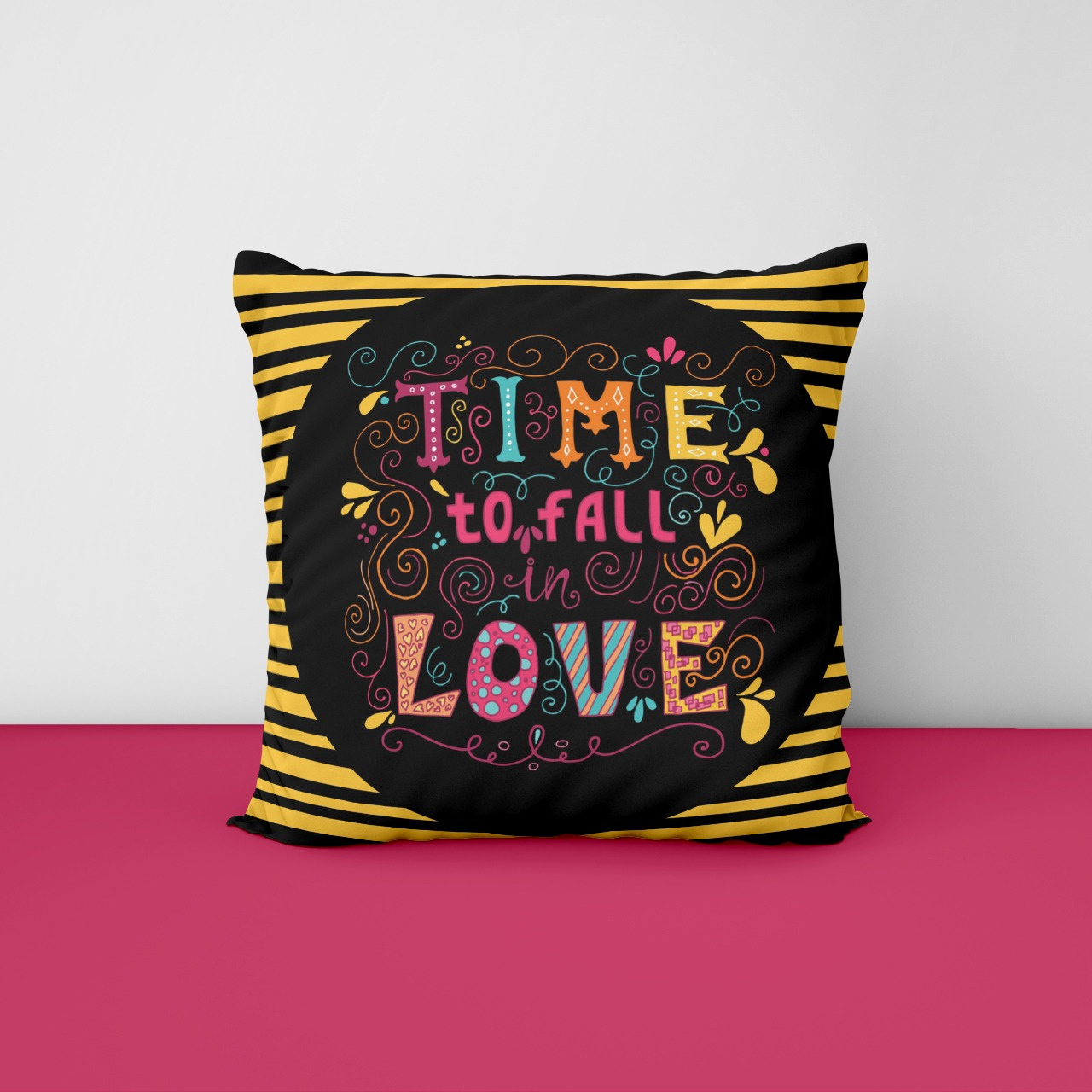 Time to Fall Customize Cushion