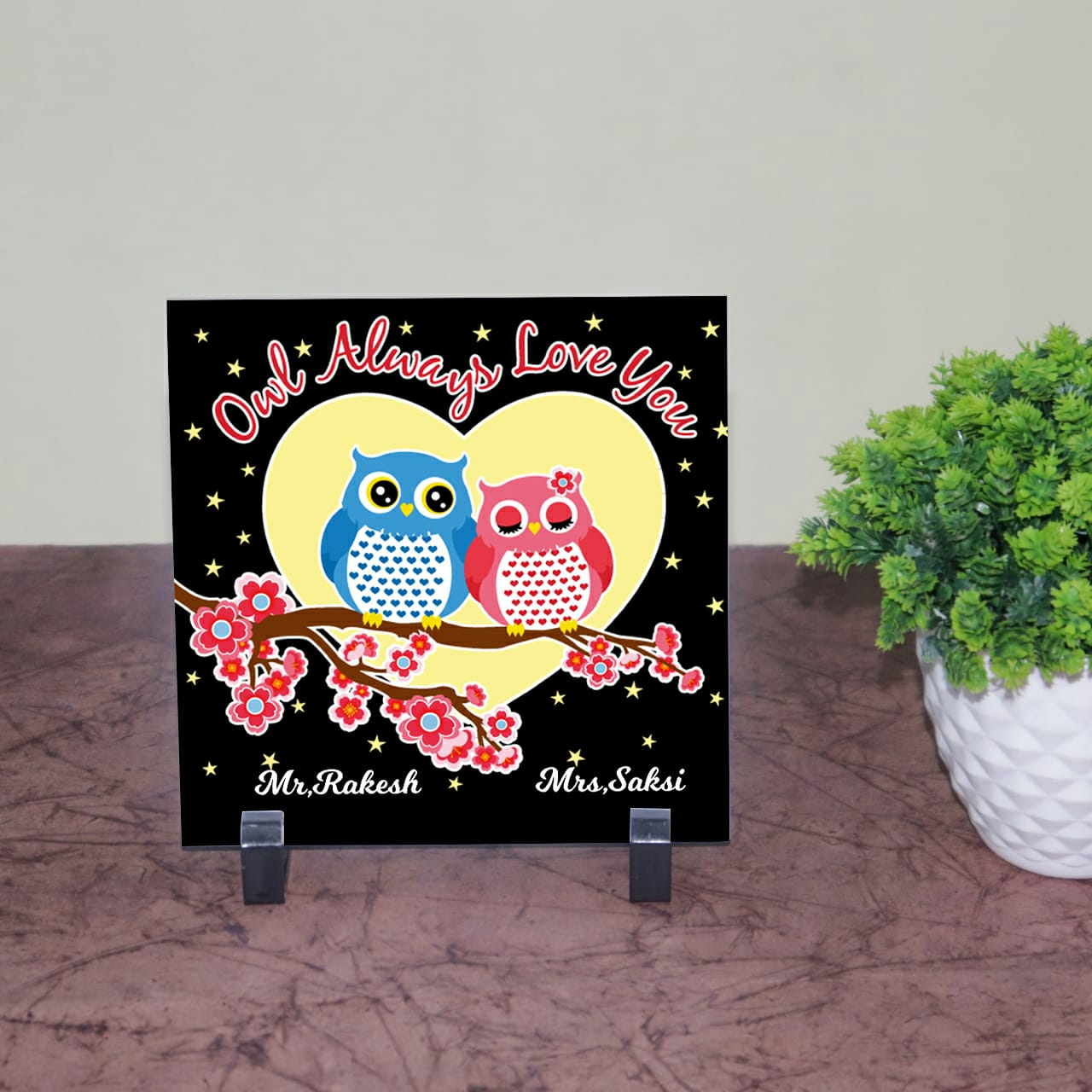 Always Love You Personalized Tile