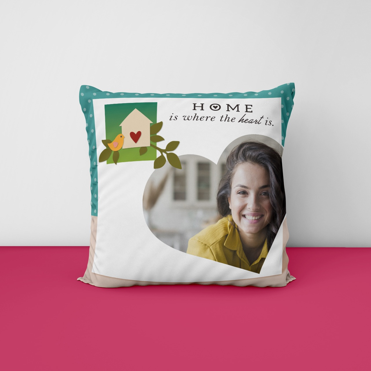 Home Is Where The Heart Is Photo Cushion