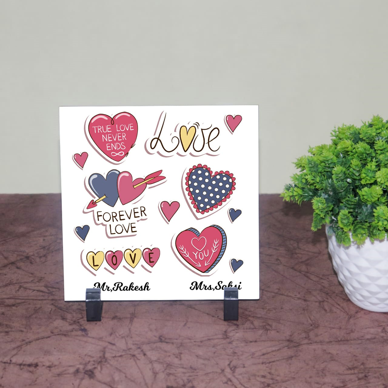 Love Forever Personalized Tile