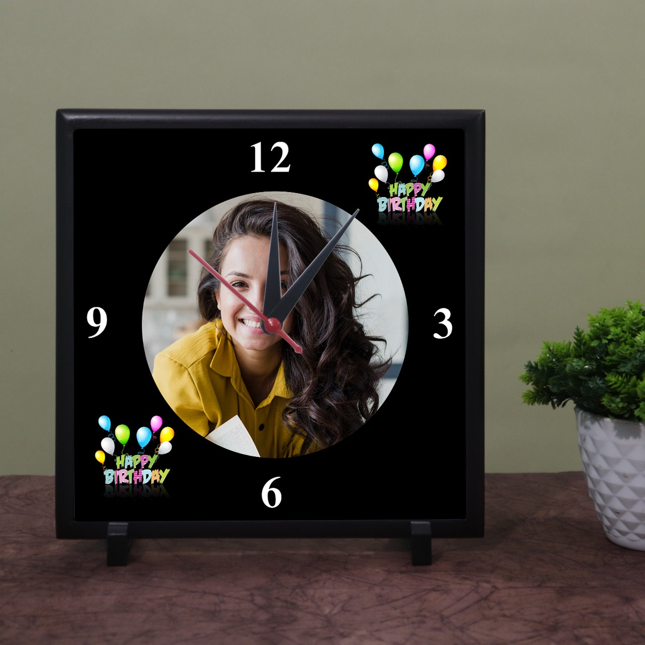 Brithday Personalized Photo Wall Clock
