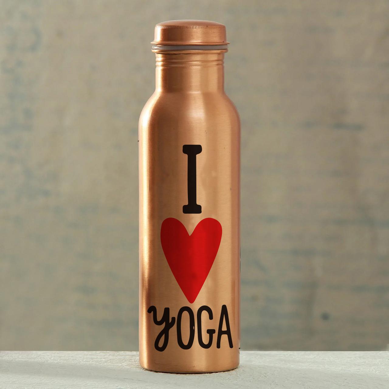 I love Yoga Copper Water Bottle