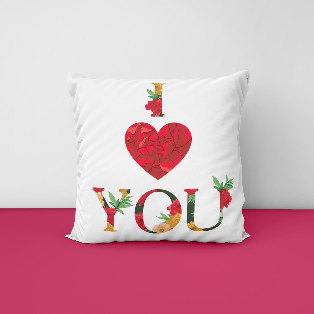 I love You Message Cushion