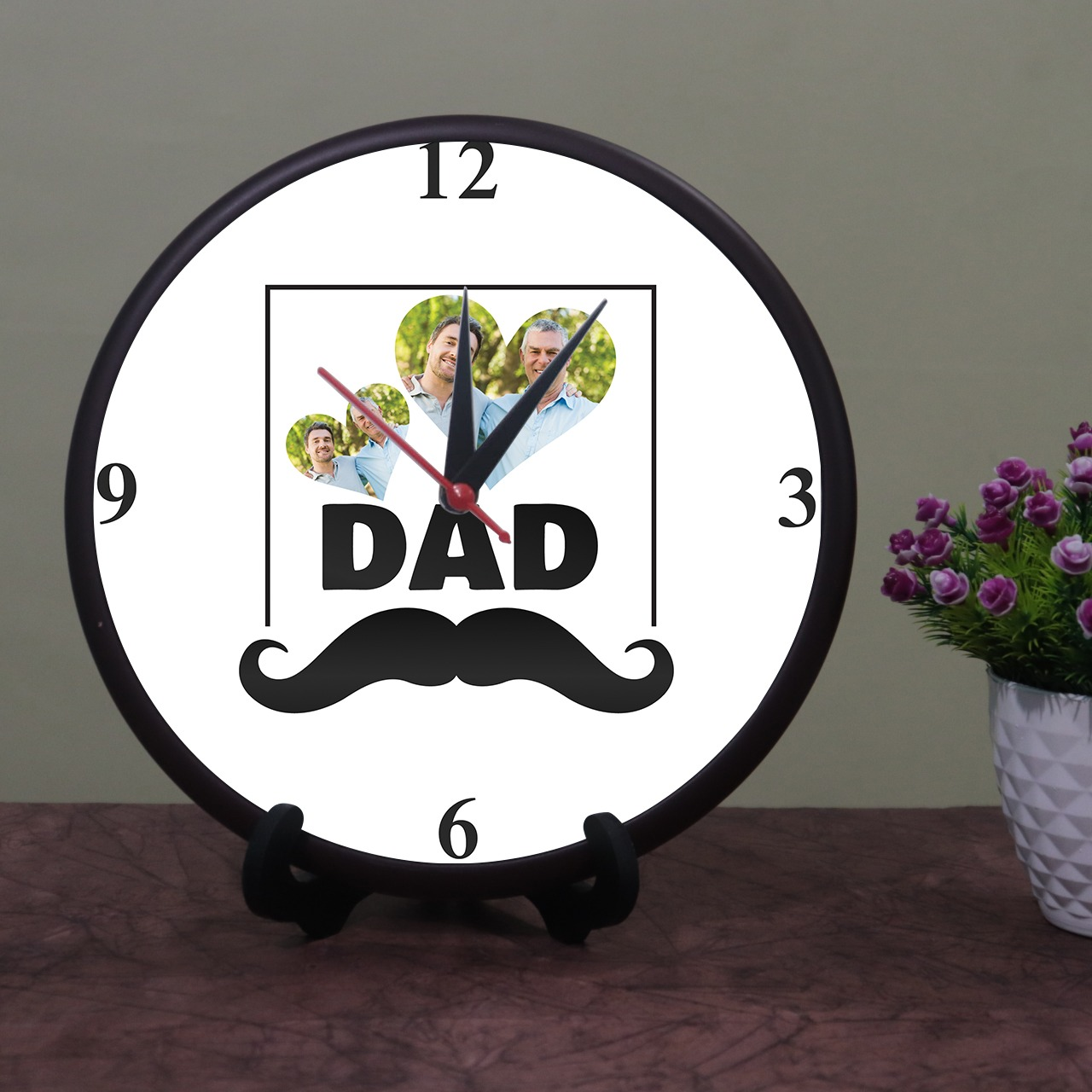 Dad Personalized Photo Wall Clock