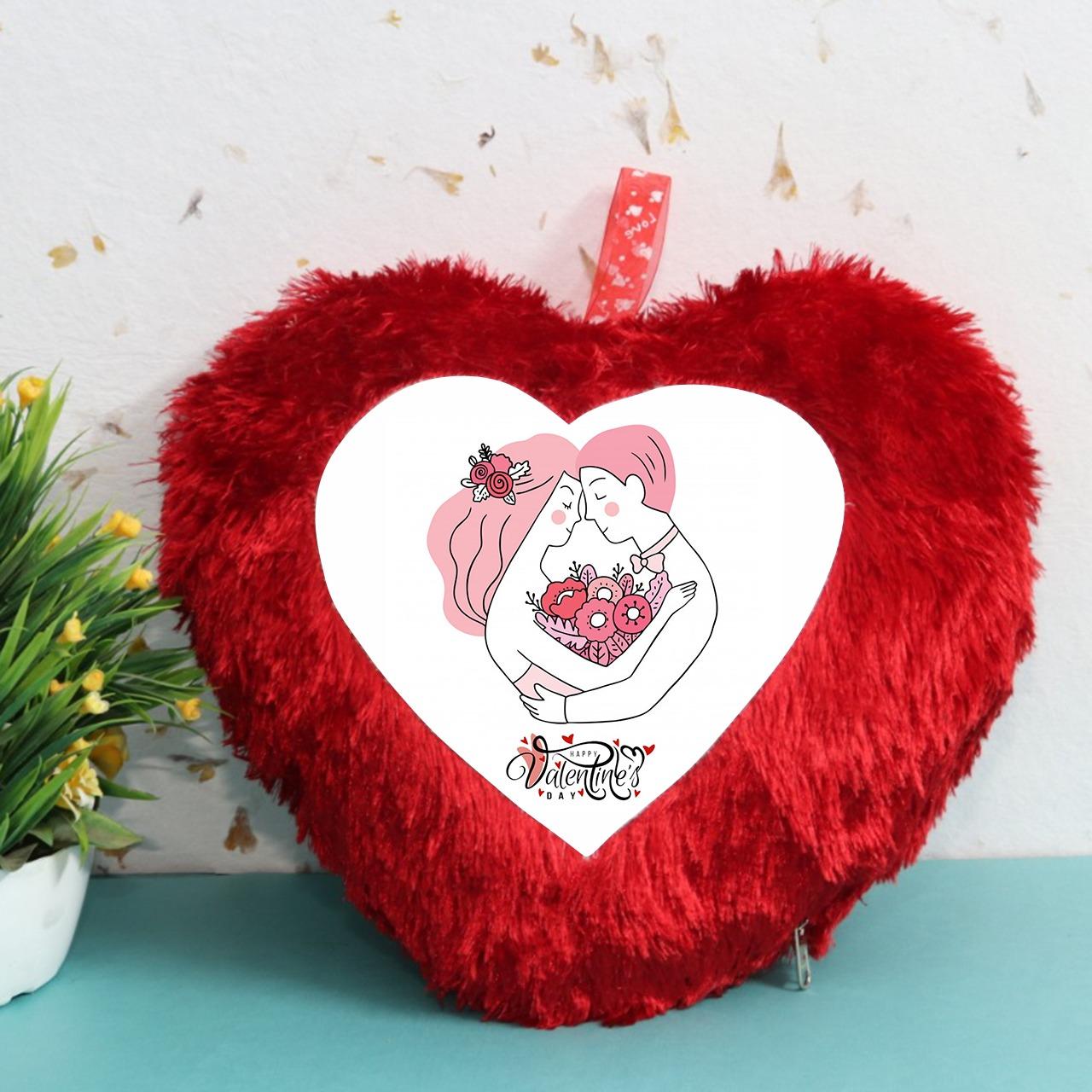 Happy Valentine Day Hart Cushion