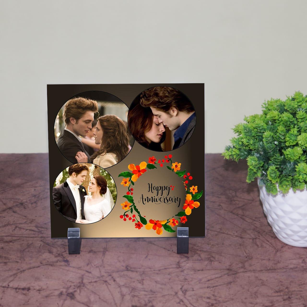 Happy Anniversary Personalizd Tile