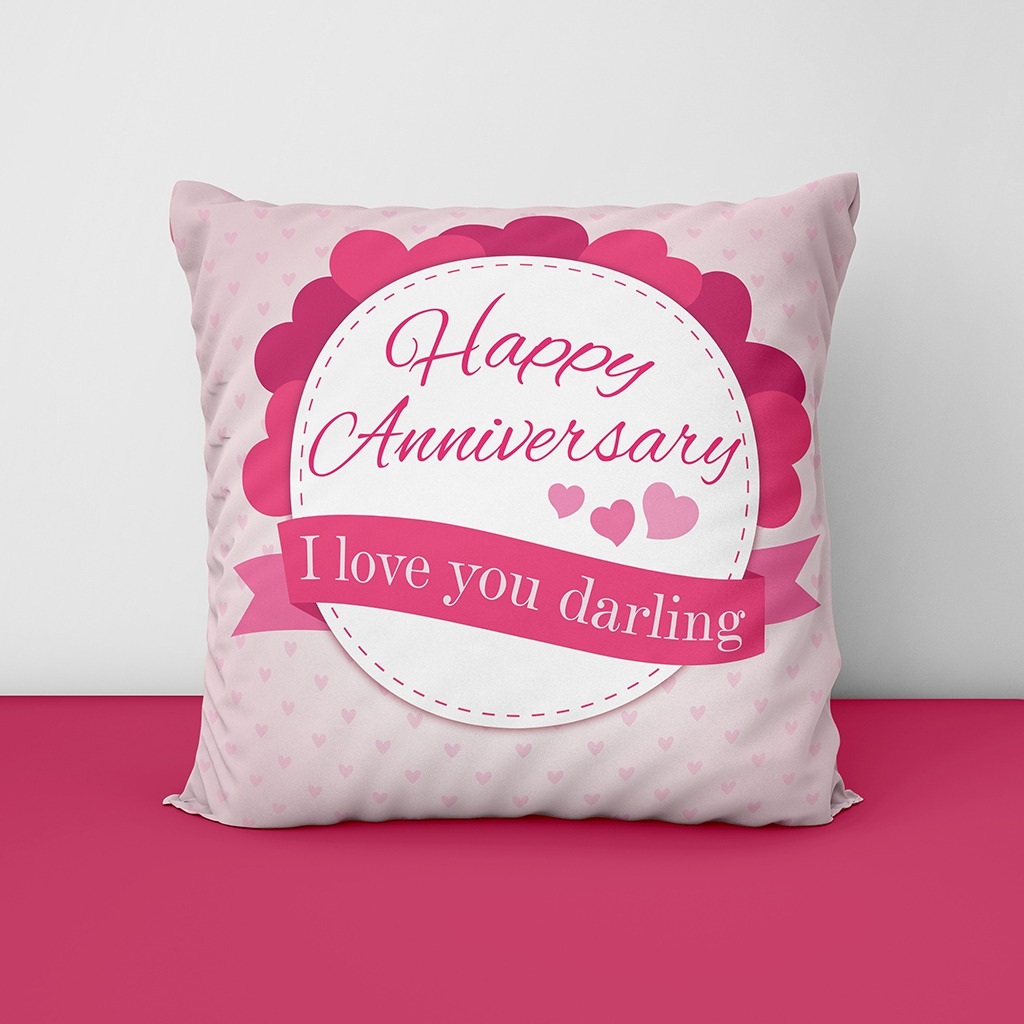 Happy Anniversary Customize Cushion