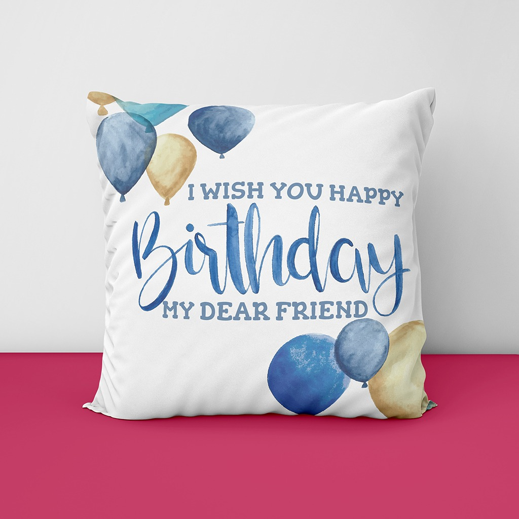 Best Frienda Birthday Customized Cushion