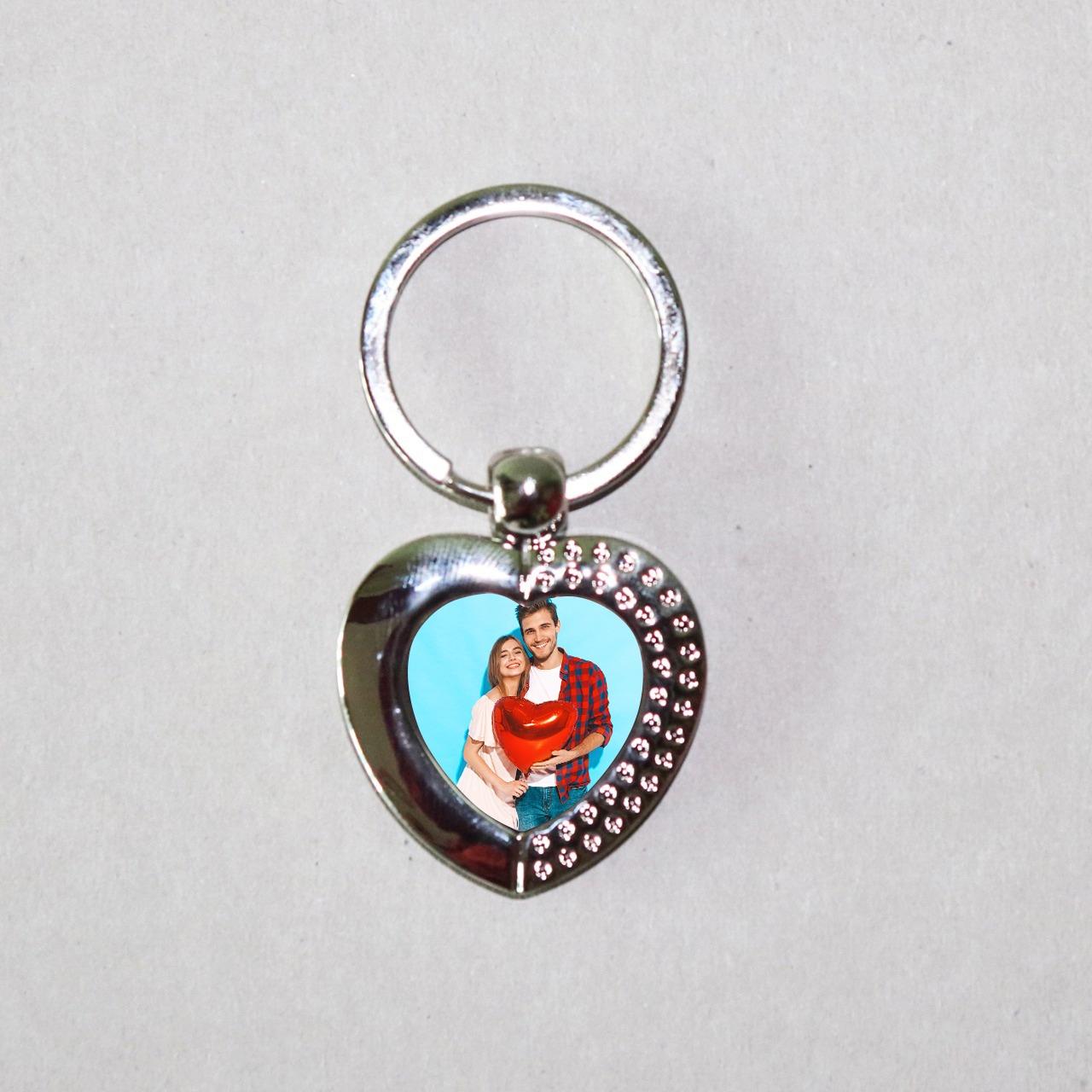 Personalized Heart Key Chain
