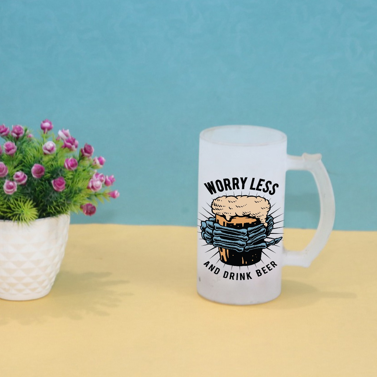 Worry Less And Drink Beer Mug