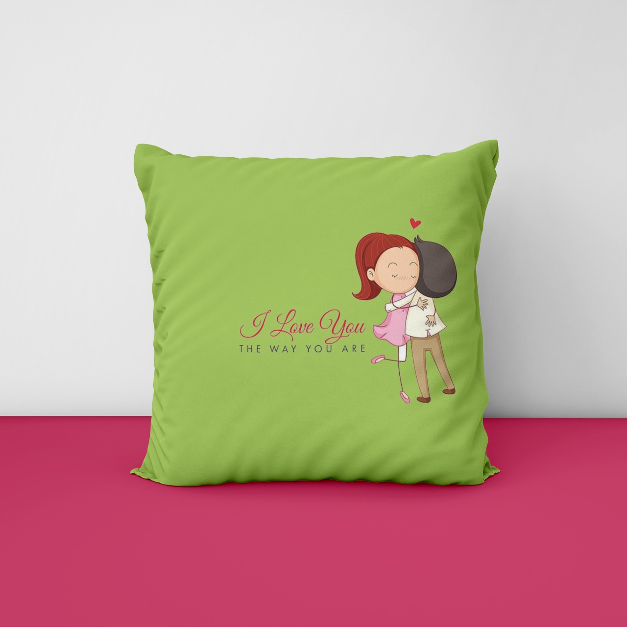 I Love You Customize Cushion