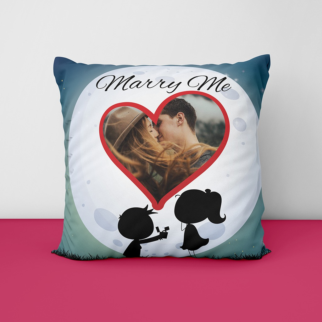 Marry Me Personalized Photo Cushion