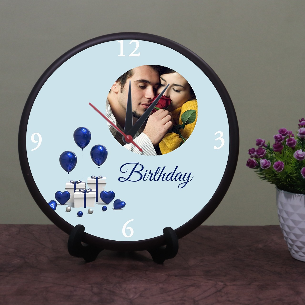 Brithday Personalized Round Shaped Clock