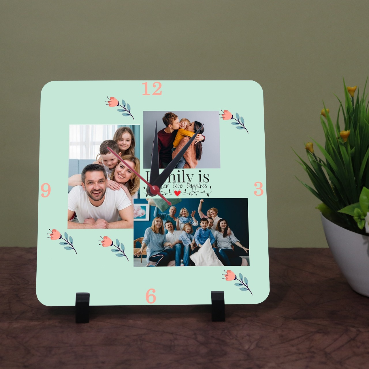 Best Family Personalized Photo Clock