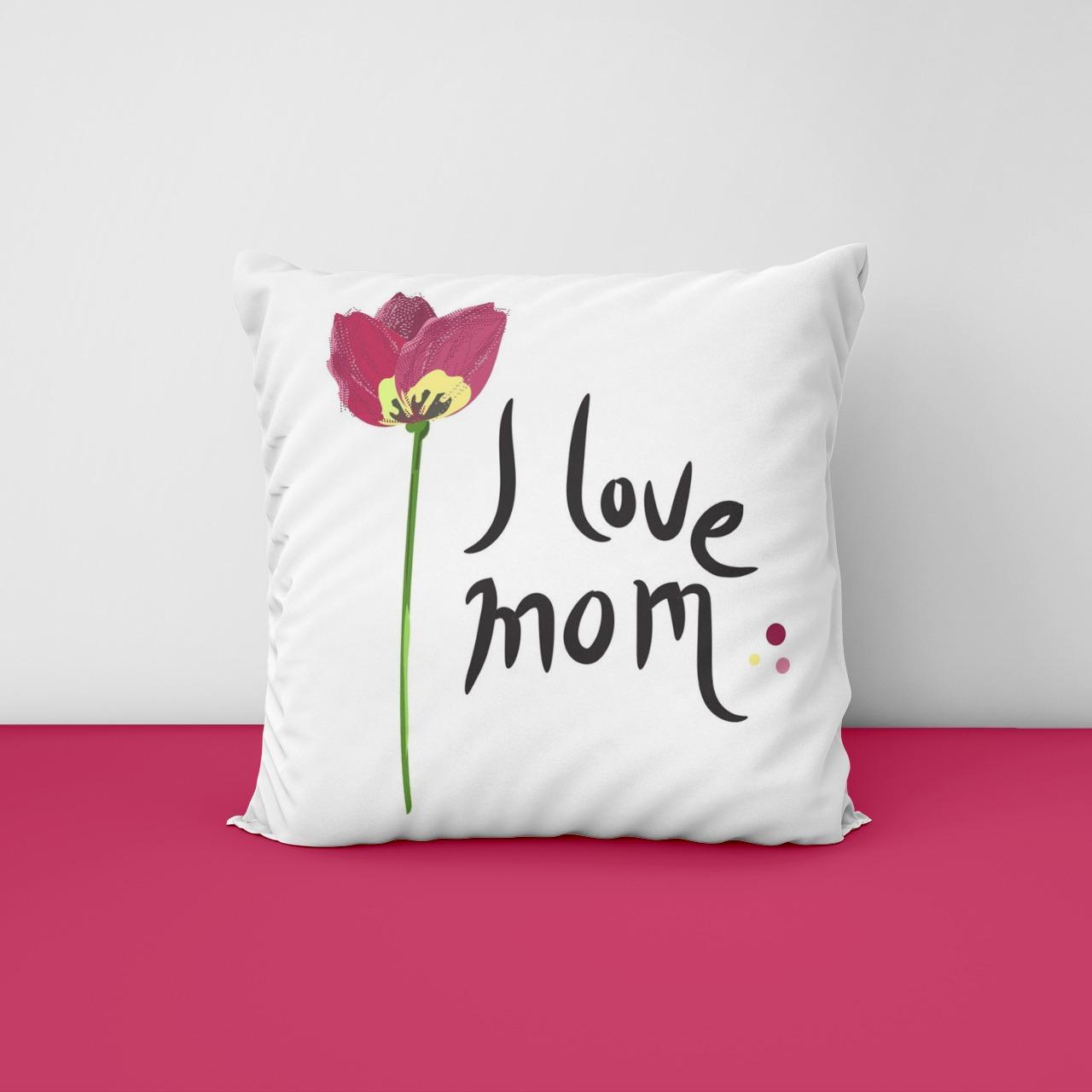 i Love Mom Cushion Cover