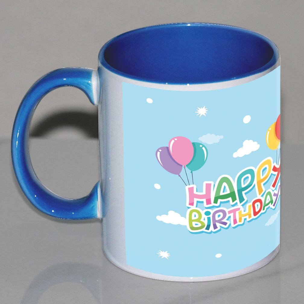 Happy Birthday Customize Skyblue Mug