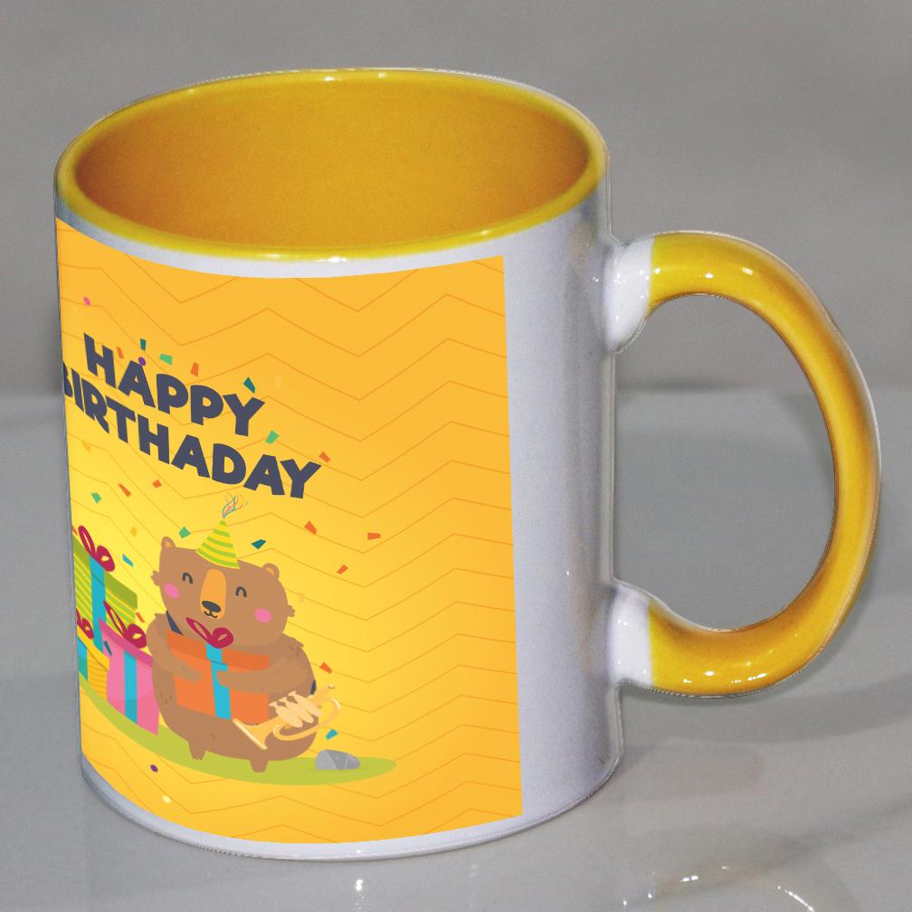 Happy birthday  Yellow mug