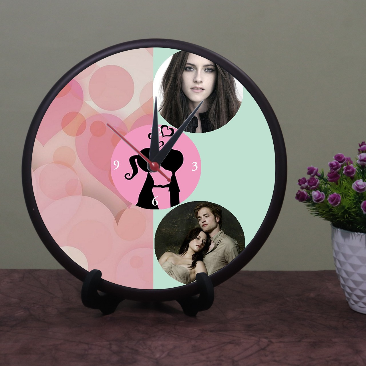 Personalized Photo Wooden Clock