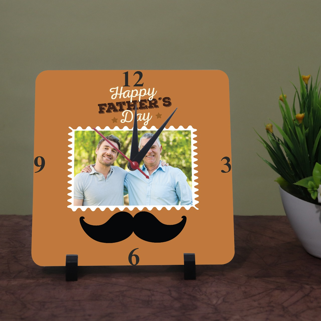 Dad Personalized Photo Clock