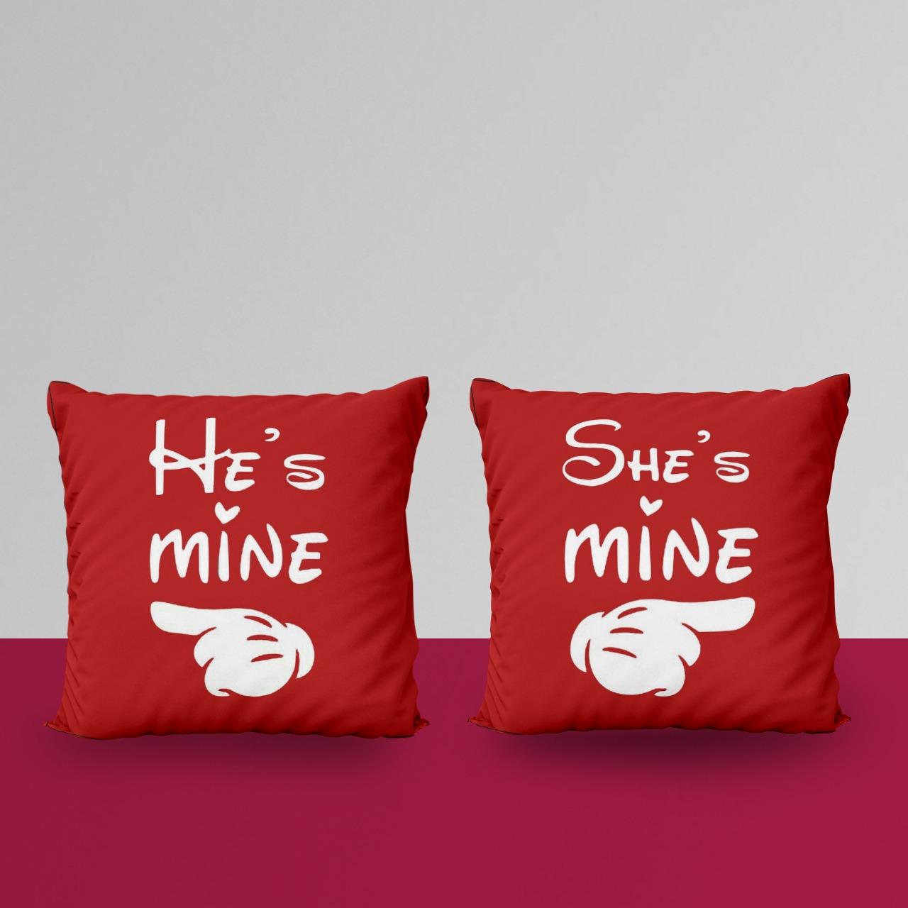 He Mine She Mine Customize Cushion