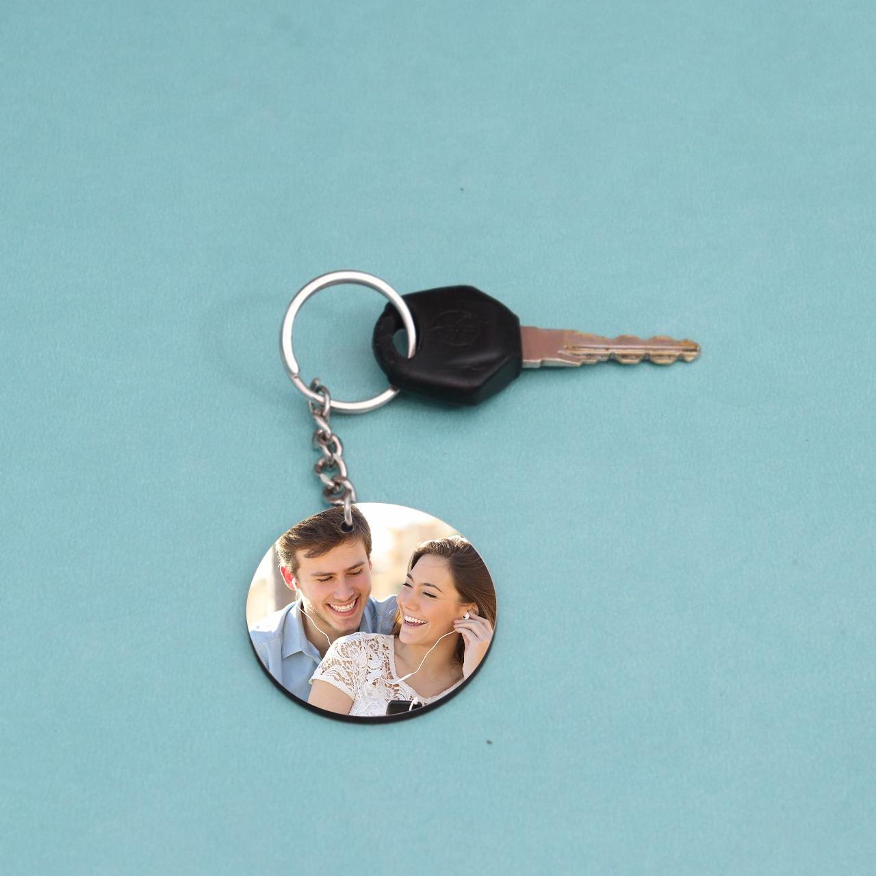 Round Personalized  Keychain