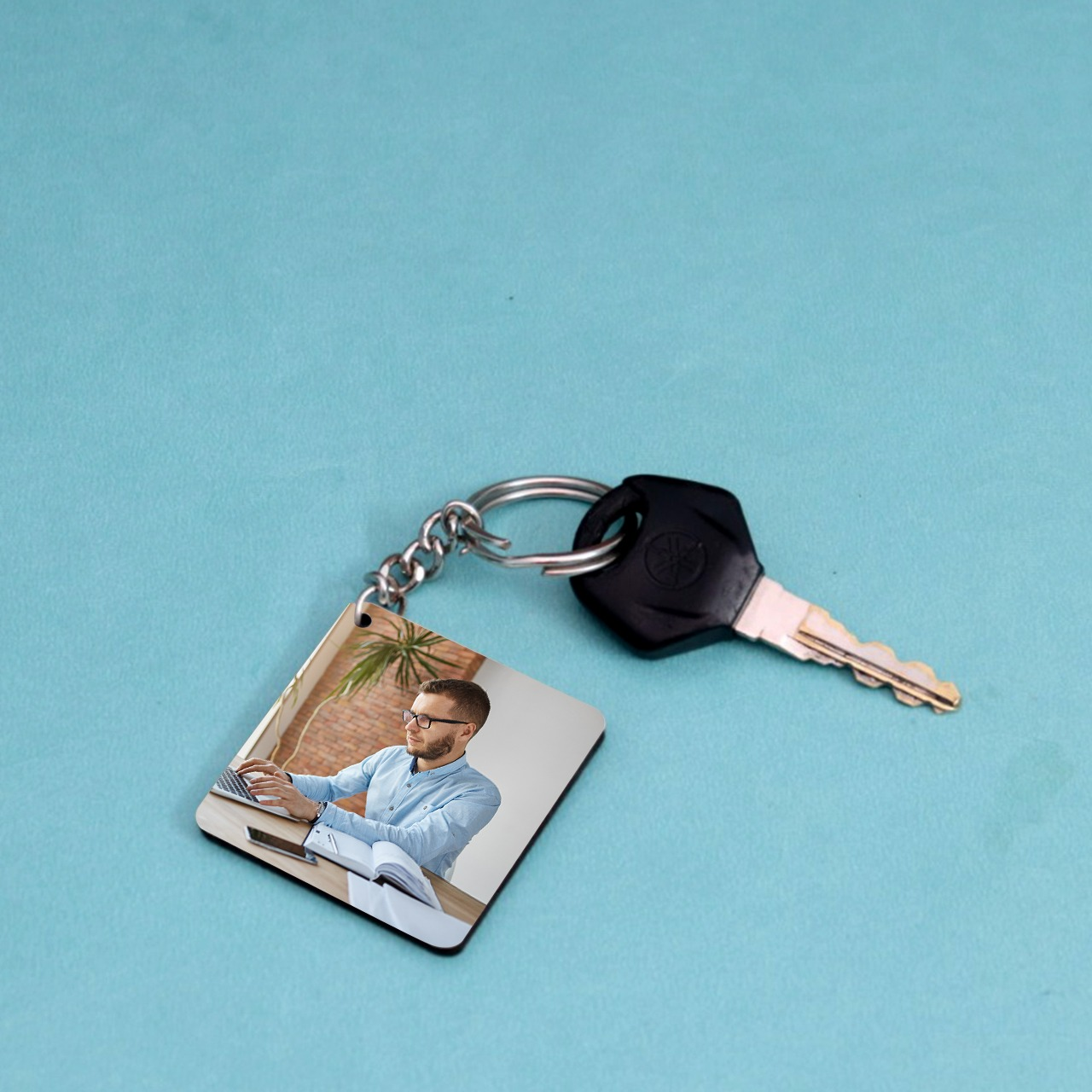 Personalized Square Shaped Key chain